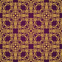 Seamless pattern giallo e viola in stile arabo o musulmano
