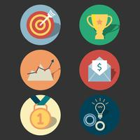 Set di icone di concetto di successo vettore