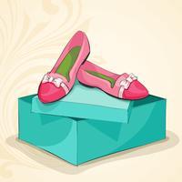 Ballerine rosa donna glamour vettore
