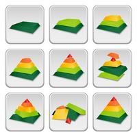 Icone dell'indicatore di stato della piramide