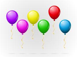 Pacchetto di palloncini colorati vettore