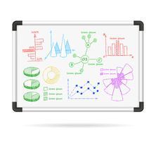 Grafici infografica lavagna