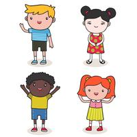 bambini piccoli vettore