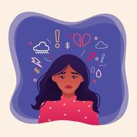 Illustrazione di salute mentale vettore