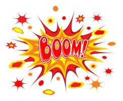 Icona di fumetti Boom vettore