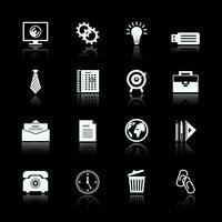 Set di pittogrammi di forniture ufficio affari