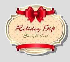 Modello di carta regalo vacanza