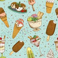 Modello senza cuciture del fondo del gelato vettore