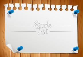 Disegno di carta con pezzo di nota vuoto vettore