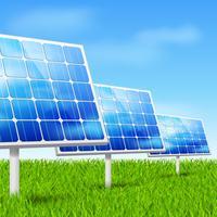 energia ecologica, pannelli solari vettore
