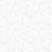 Schizzo di borse alla moda della donna senza cuciture vettore