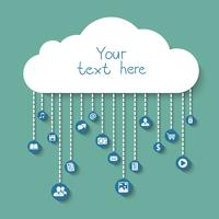 Sociale e commerciale nel cloud vettore