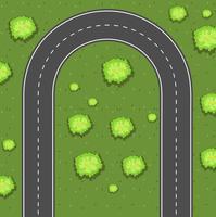 Vista aerea della strada di svolta
