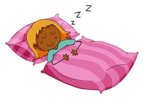 Ragazza che dorme vettore