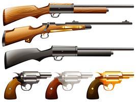 Pistole impostate vettore