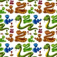 Sfondo senza soluzione di continuità con serpenti selvaggi
