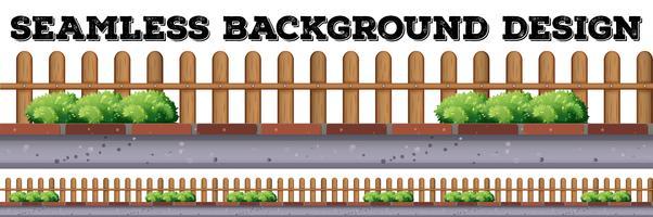 Progettazione senza cuciture del fondo con il recinto di legno