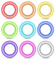Pulsanti ad anello colorati vettore