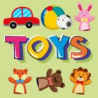 Design di poster per giocattoli vettore