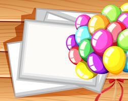 Modello di confine con palloncini colorati