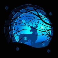 Stile di arte di carta Illustrazione della stagione invernale