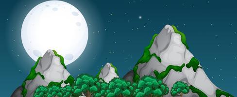 Uno sfondo di natura notte