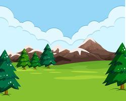 Un semplice paesaggio naturale vettore