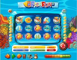 Modello di gioco di pesci sott'acqua vettore
