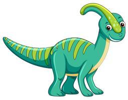 Simpatico personaggio di dinosauro verde