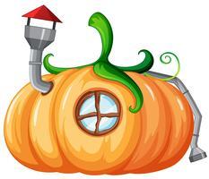 Disegno incantato della casa pumplin vettore