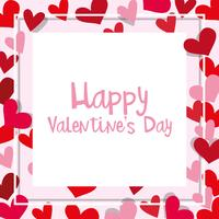 Modello di carta di San Valentino con cornice cuore
