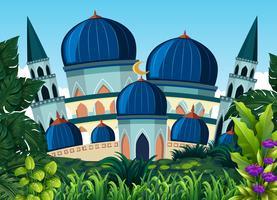 Una bellissima moschea blu
