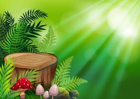 Uno sfondo verde della natura vettore