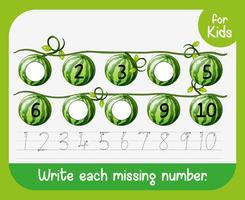Scrivi ciascun foglio di lavoro dei numeri mancanti