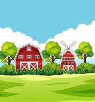 Casa in zona rurale vettore