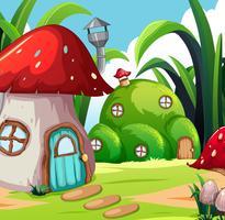 Casa in terra magica vettore