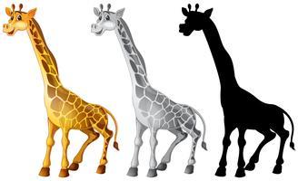 Set di caratteri di giraffa vettore