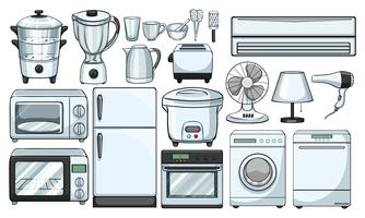 Dispositivi elettronici utilizzati in cucina vettore