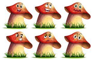 Espressione di funghi vettore