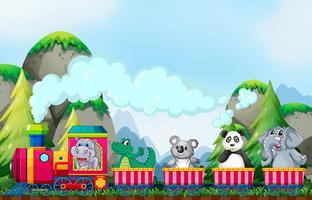 Animale e treno vettore