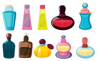 Bottiglie di profumo vettore