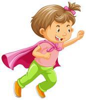 Un bambino che gioca il ruolo di supereroe vettore