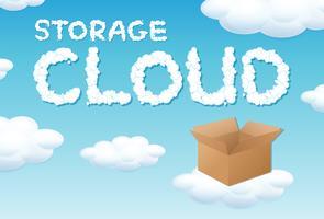 Concetto di cloud box di archiviazione vettore