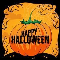 Tema di Halloween con zucca vettore