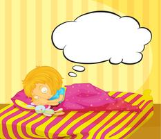 Una ragazza che sogna vettore