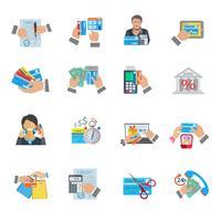Icona di vita di credito piatta