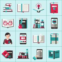 Set di icone di libri vettore