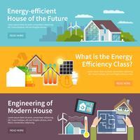 Banner casa risparmio energetico vettore