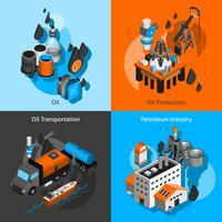 Set isometrica di petrolio
