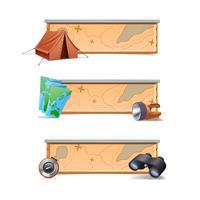 Escursionismo Banner orizzontale vettore